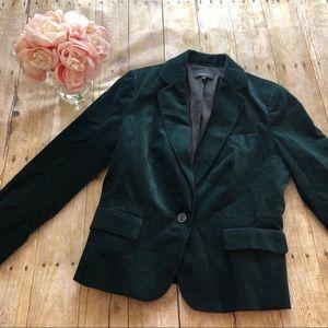Talbots Green Velvet Blazer- Size 10